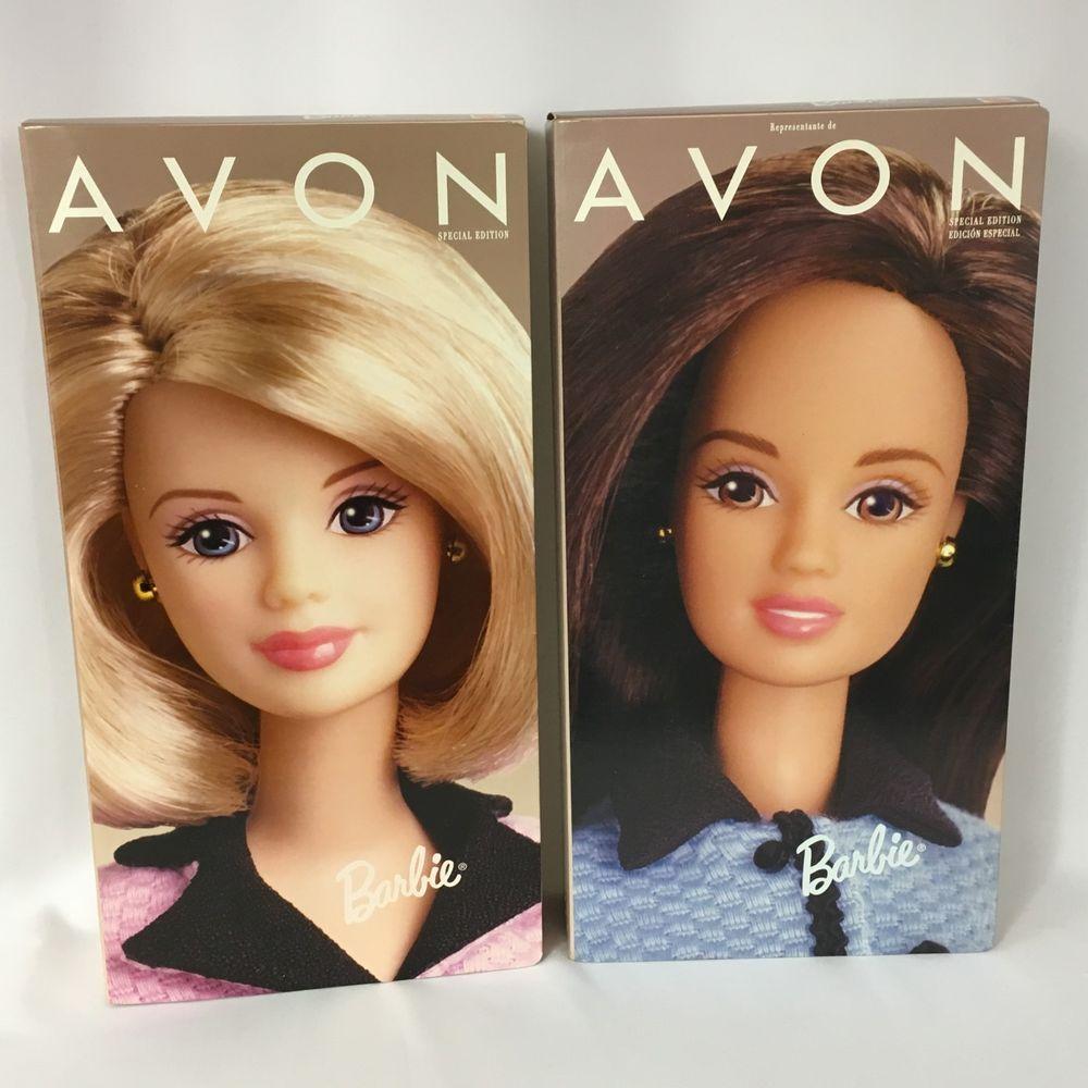 Barbie Special Edition 1998 Avon Brunette Representative Business New Unopene... #Mattel
