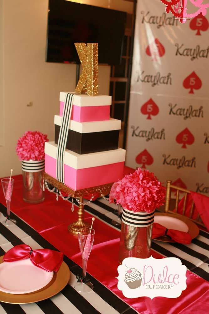 Kate Spade Inspired Birthday Party Ideas Photo 1 Of 16