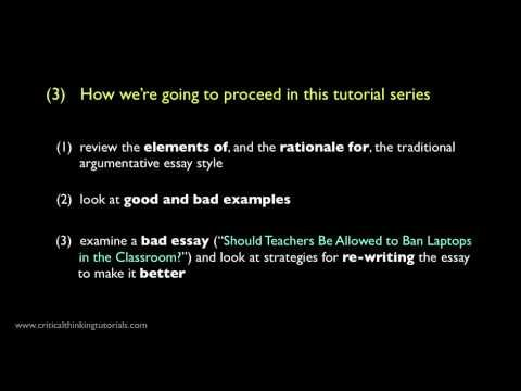 How To Write A Good Argumentative Essay Introduction Youtube Video By Critical Thinking Argumentative Essay Homeschool Writing Persuasive Writing