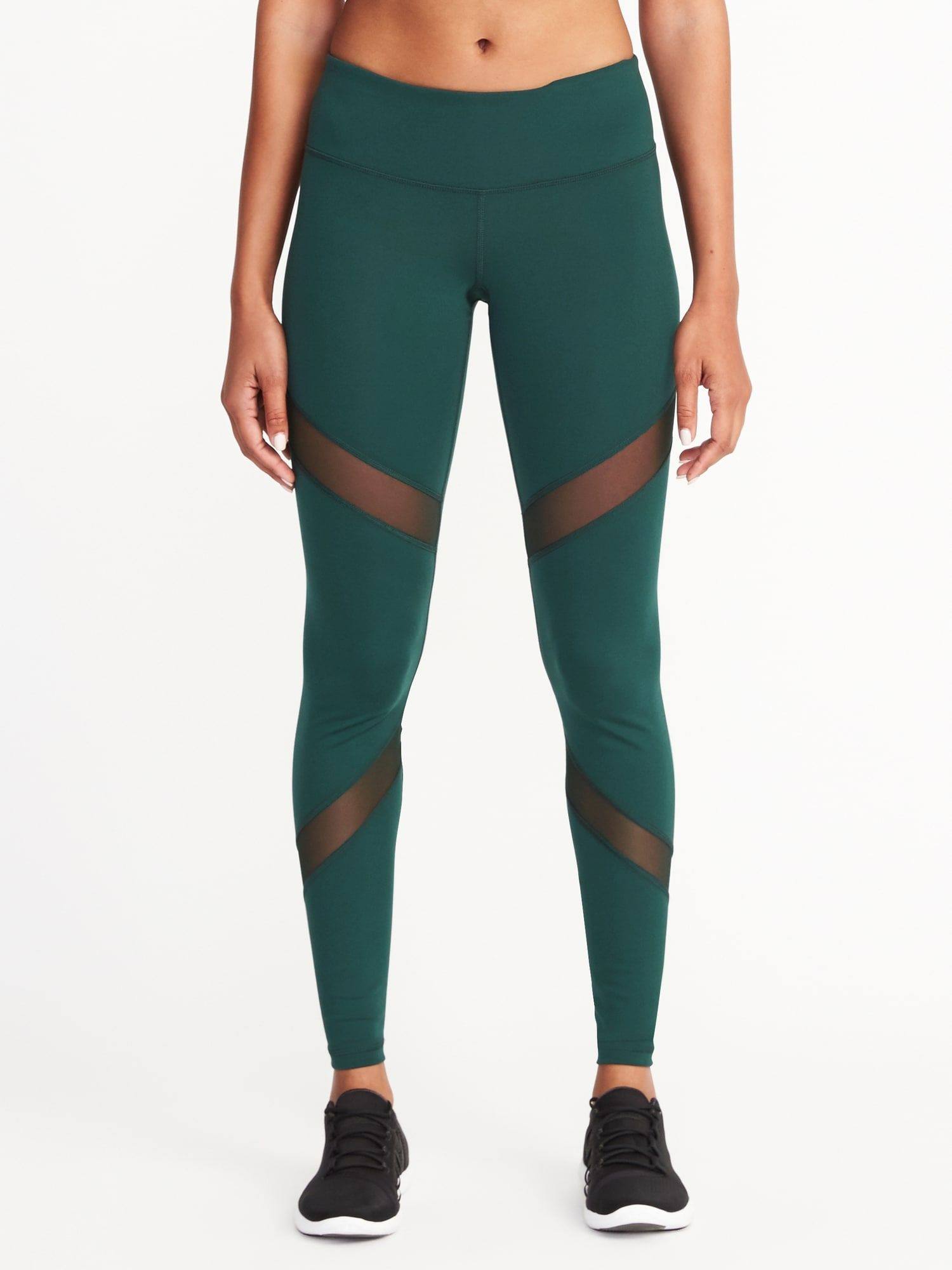 581ec3ef2c Mid-Rise Mesh-Panel Elevate Compression Leggings for Women | my ...