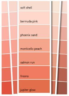 Image Result For Peach Wall Paint Chart