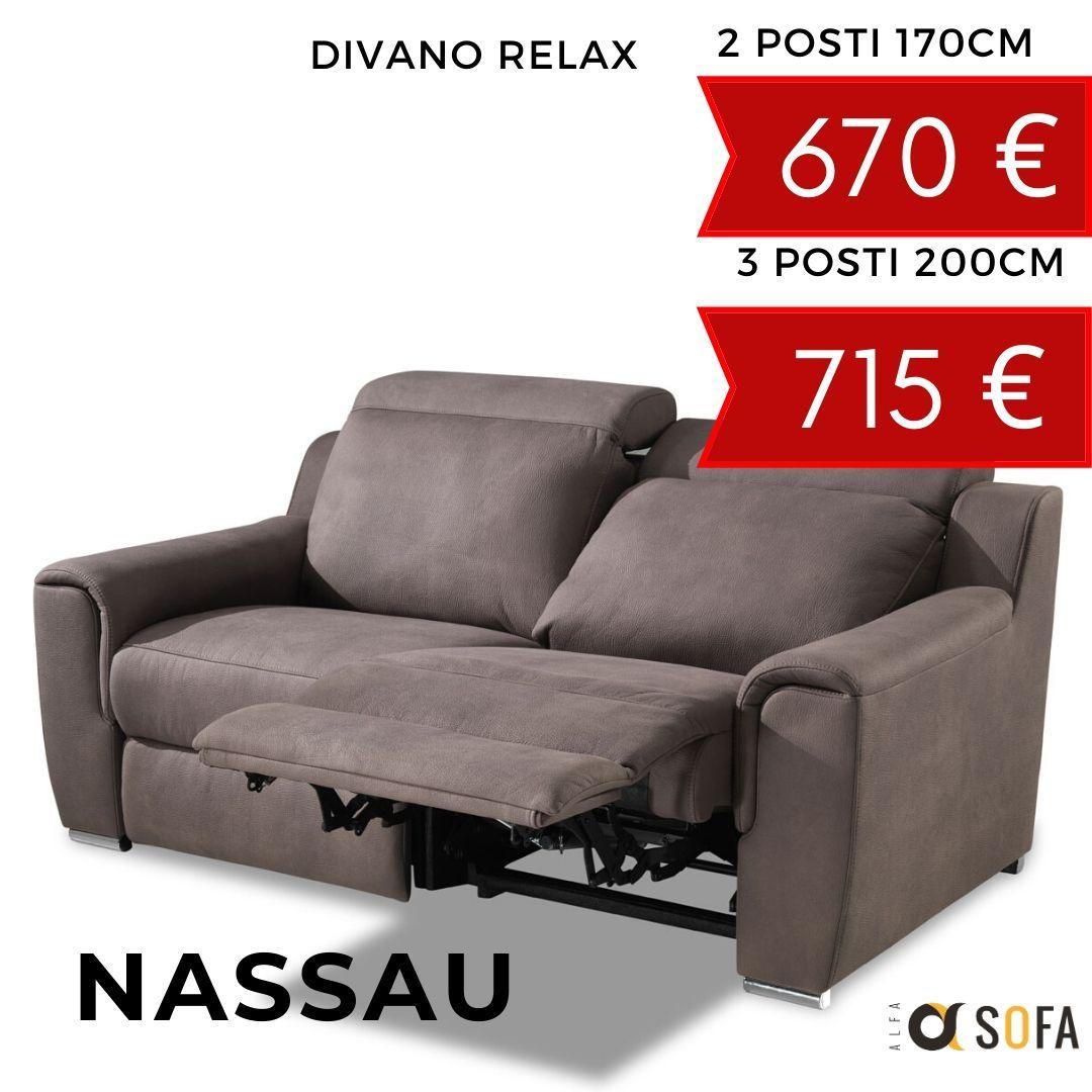 Divani Con Meccanismo Relax divano due posti con relax