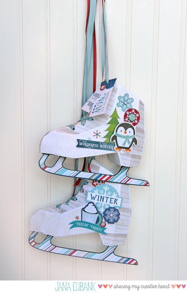 Echo Park Paper I Love Winter Ice Skates Jana Eubank Echo Park Paper I Love Winter Diy Clothes Tutorial