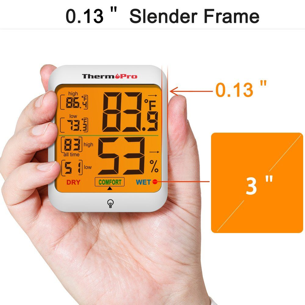 Thermopro Tp53 Hygrometer Humidity Gauge Indicator Digital Indoor Thermometer Room Temperature And Humi Hygrometer Digital Thermometer Temperature And Humidity
