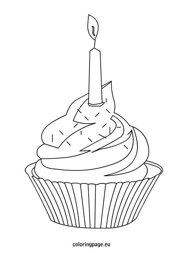 Cupcake Coloring Page Jpg 595 804 Pixels Cupcake Coloring Pages Cupcake Drawing Birthday Gifts For Teens