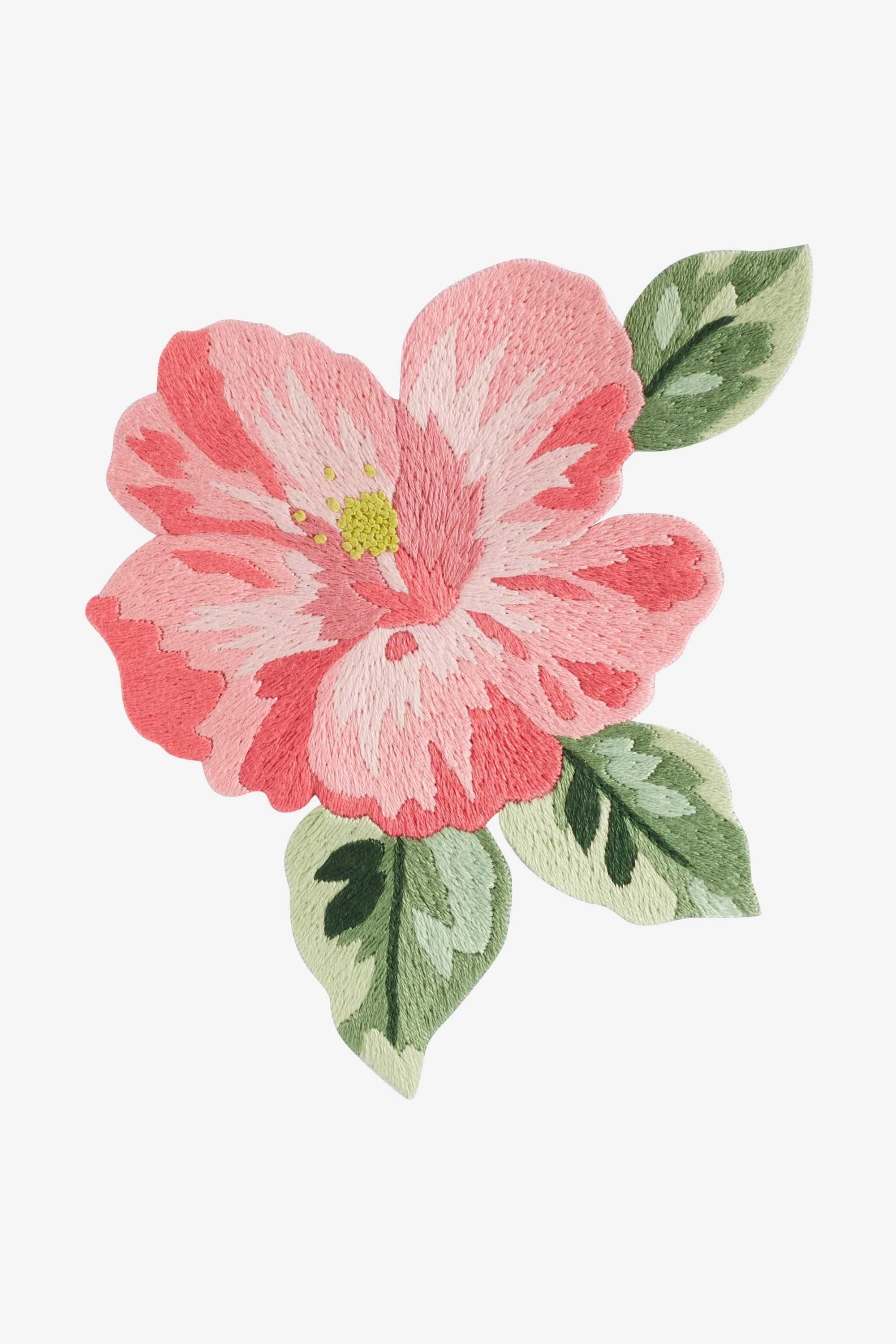 Fleur Hawaienne Motif Broderie Intermediaire Embroidery Flowers Hibiscus Drawing Embroidery Patterns Free