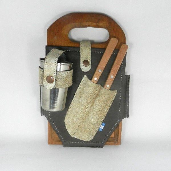 Set de asado contiene tabla cuchillo tenedor y vaso de - Tabla de cuchillos ...