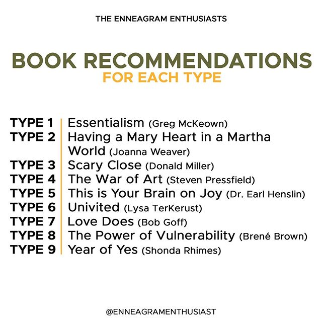 """The Enneagram Enthusiasts on Instagram: """"We've wanted to do a post on book recommendations for a while. Here's a list we've compiled, but we're interested to know about others…"""""""