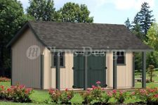 Cape Bonnet Roof Style16x16 Shed With Porh Plans P81616 Free Material List