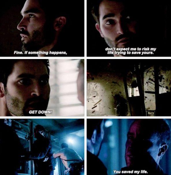 Derek saving Chris