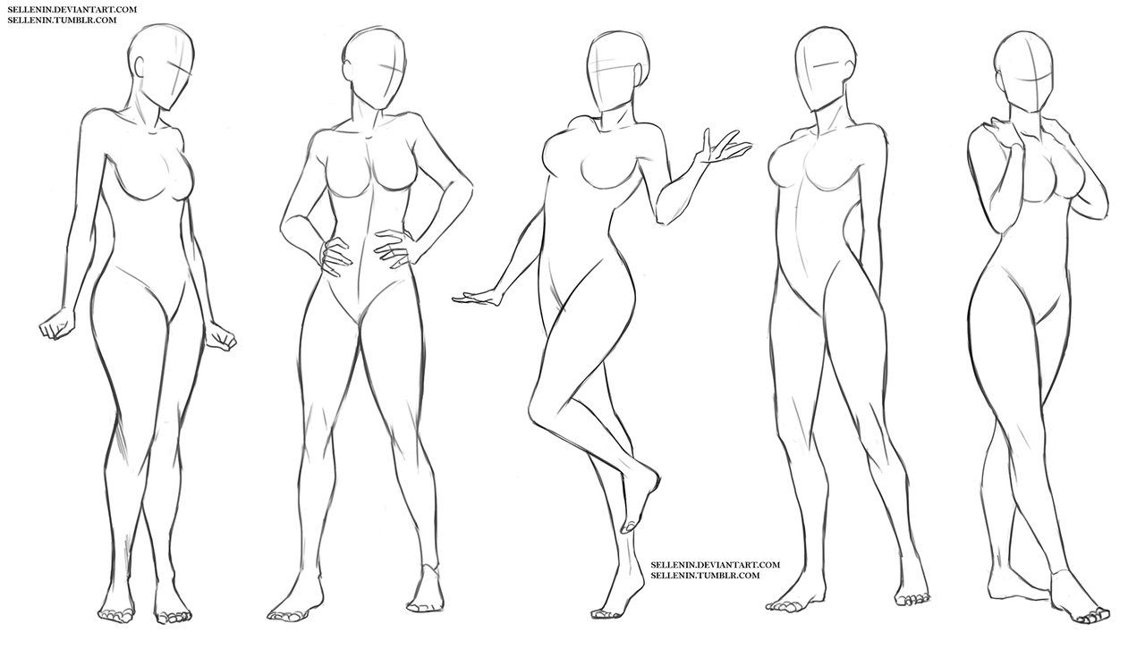 Female Standing Poses Body Pose Drawing Female Drawing Poses Art Reference Poses