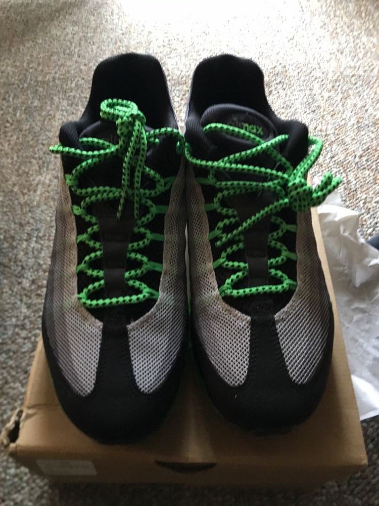 133b0efd1d434c Brand New And Rare Mens Air Max 95 Dynamic Flywire Black Green Size ...