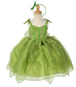 Green Polyester Costume w/Straps and Organza Skirt  http://www.elitedresses.com/Greem_Polyester_Dress_w_Cap_Sleeve_Pick_Up_Skirt_p/daklp6.htm