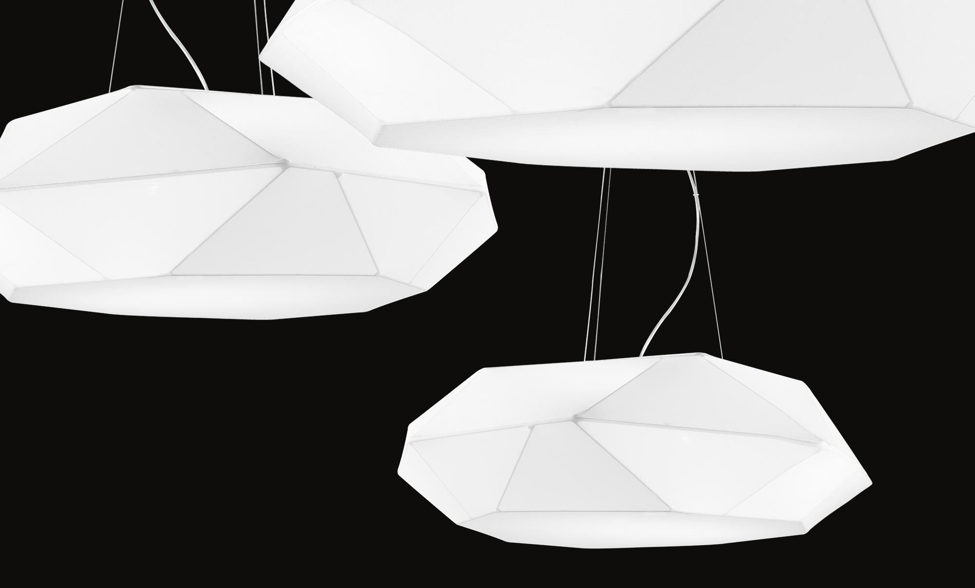 Plafoniere Da Soffitto In Tessuto : Panzeri viki lampade da soffitto e sospensioni in tessuto