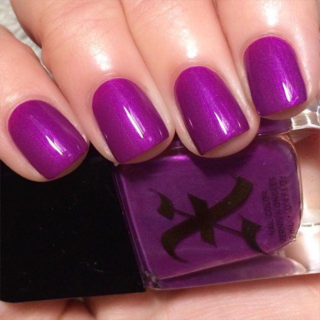 Now this is my kinda purple!!! Kat Von D & Sephora Formula X polish ...