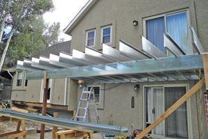 Framing Decks With Steel Joists Building A Deck Deck Design Diy Deck