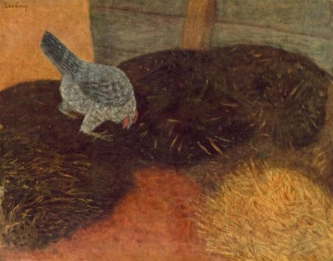 Róbert Berény - Pecking Chicken - Oil on canvas - Animals - Hungarian National Gallery - Budapest, Hungary