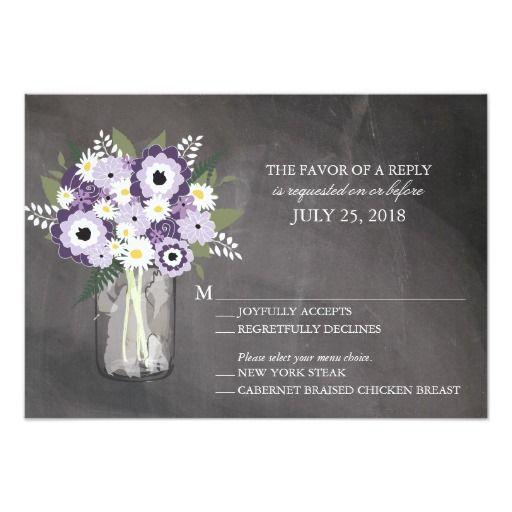 Mason Jar Floral | RSVP 3.5x5 Paper Invitation Card