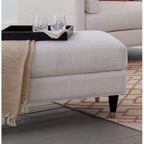 Contemporary Natural White Ottoman Pia White Ottoman Ottoman Living Spaces