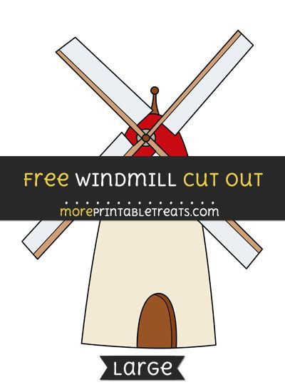 Free Windmill Cut Out - Large size printable Free Printable Cut - thermometer template
