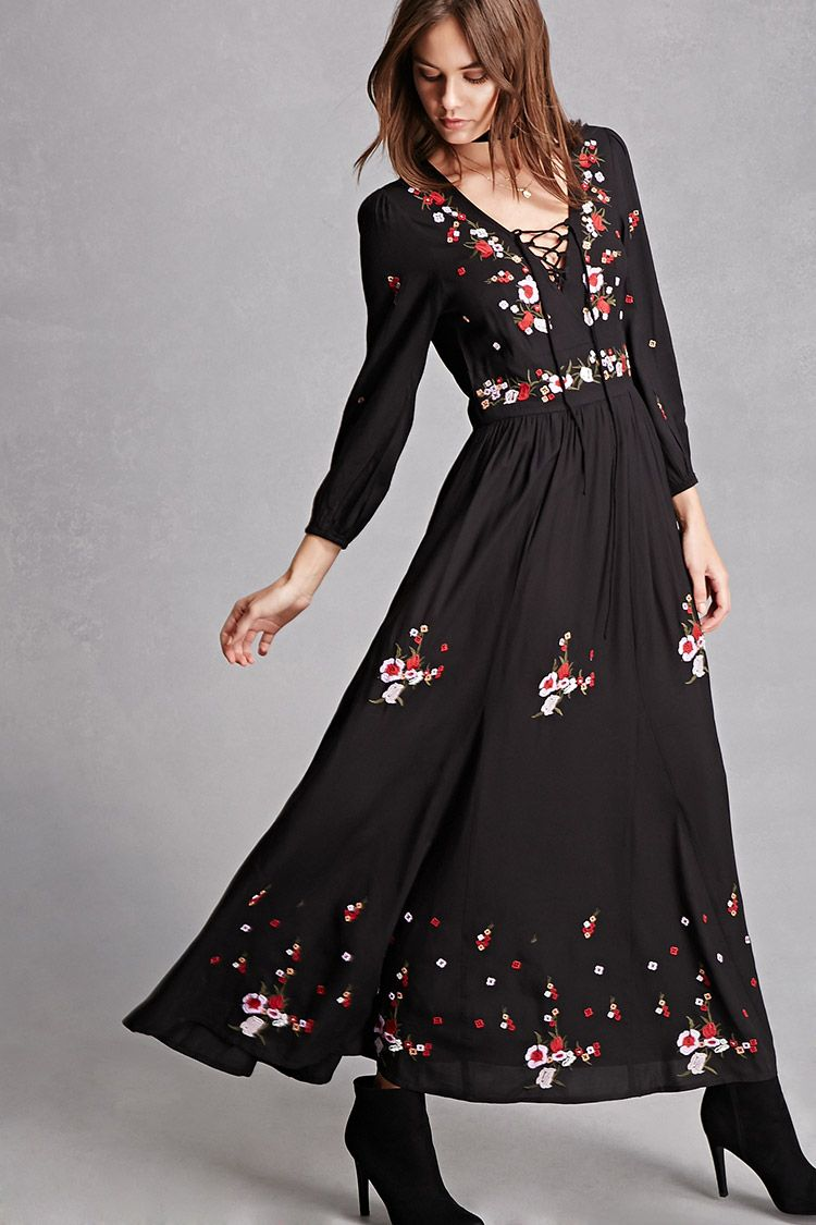 Med rd and koko embroidered dress all i want for christmas