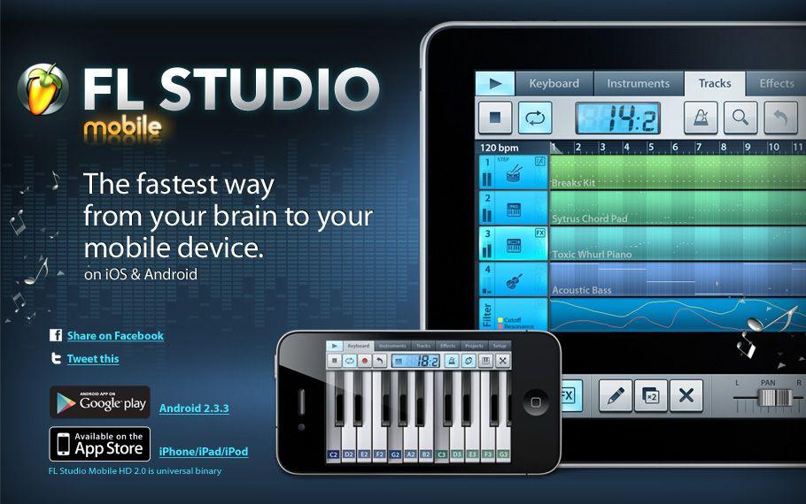 FL Studio Mobile HD will allow you to create complete