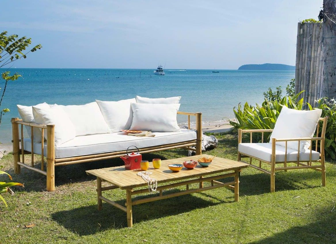 Salon de jardin en bambou | Salon de jardin | Pinterest