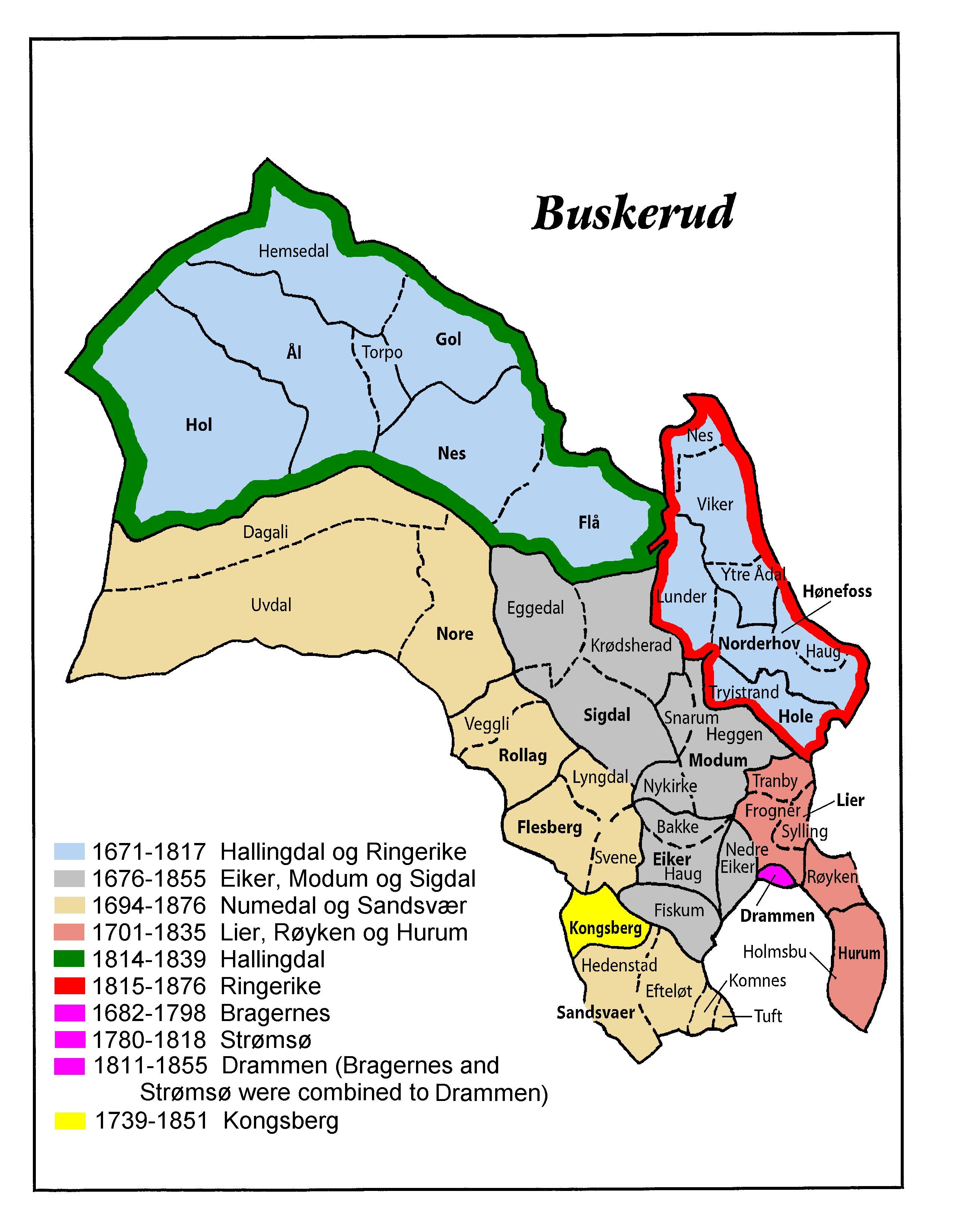 Buskerud County Norway Genealogy Learn FamilySearchorg - Norway map counties