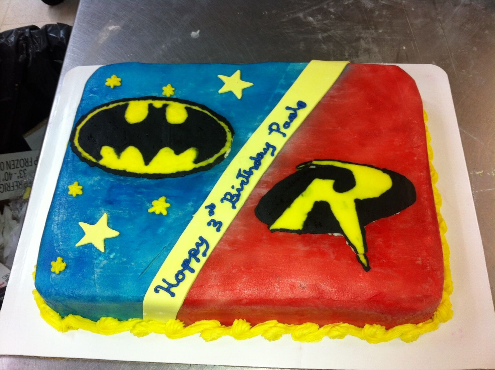 Batman And Robin Cake My Creations Pinterest Robins Batman