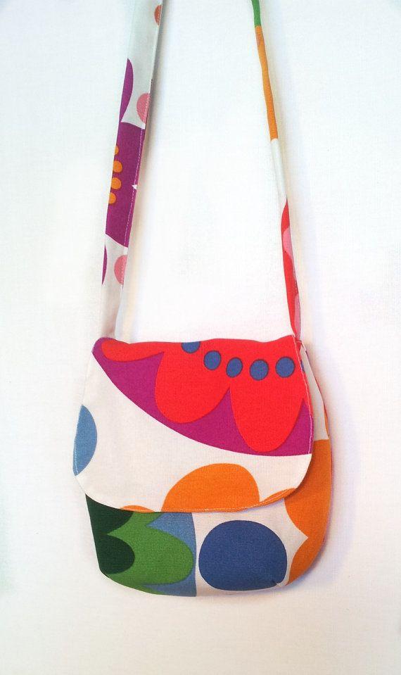 Children Shoulder Bag Small Cross Body Little Purse Fabric Messenger Cotton