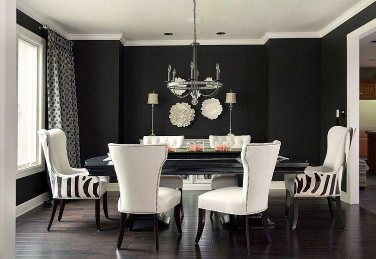 schwarze wände im monochromen esszimmer | wohnen | pinterest | room, Design ideen