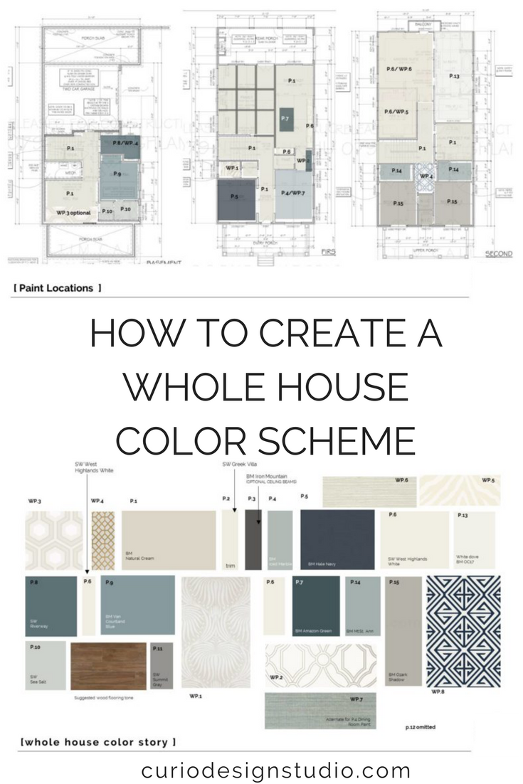 Creating a good whole house color scheme is really a balance between diversity and unity of color. #colorscheme #interiordesignideas #housecolorscheme #neutral #paintcolorschemes