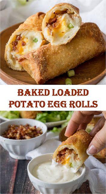 ★★★★★ 1306 Reviews: My BEST #Recipes >> Baked Loaded #Potato Egg Rolls   ~09~ Falah #cooking #eggrolls
