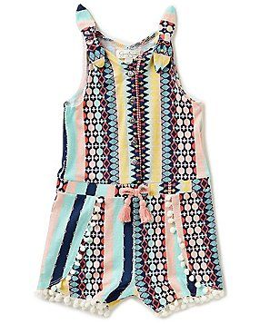 Jessica Simpson Baby Clothes Alluring Jessica Simpson Baby Girls 1224 Months Mixedmedia Striped Romper Inspiration Design