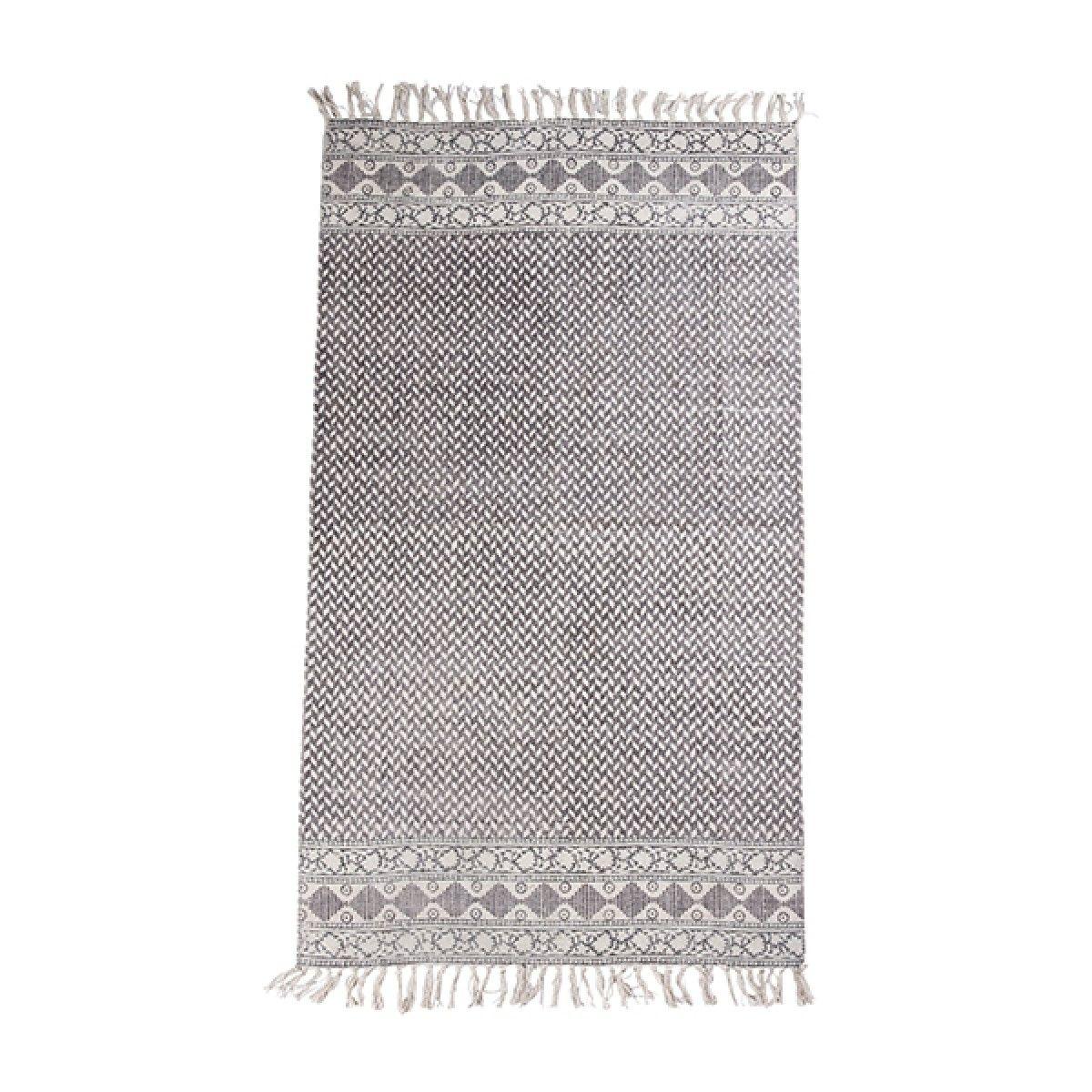Bahne tæppe, 90x150 cm - mørk grå