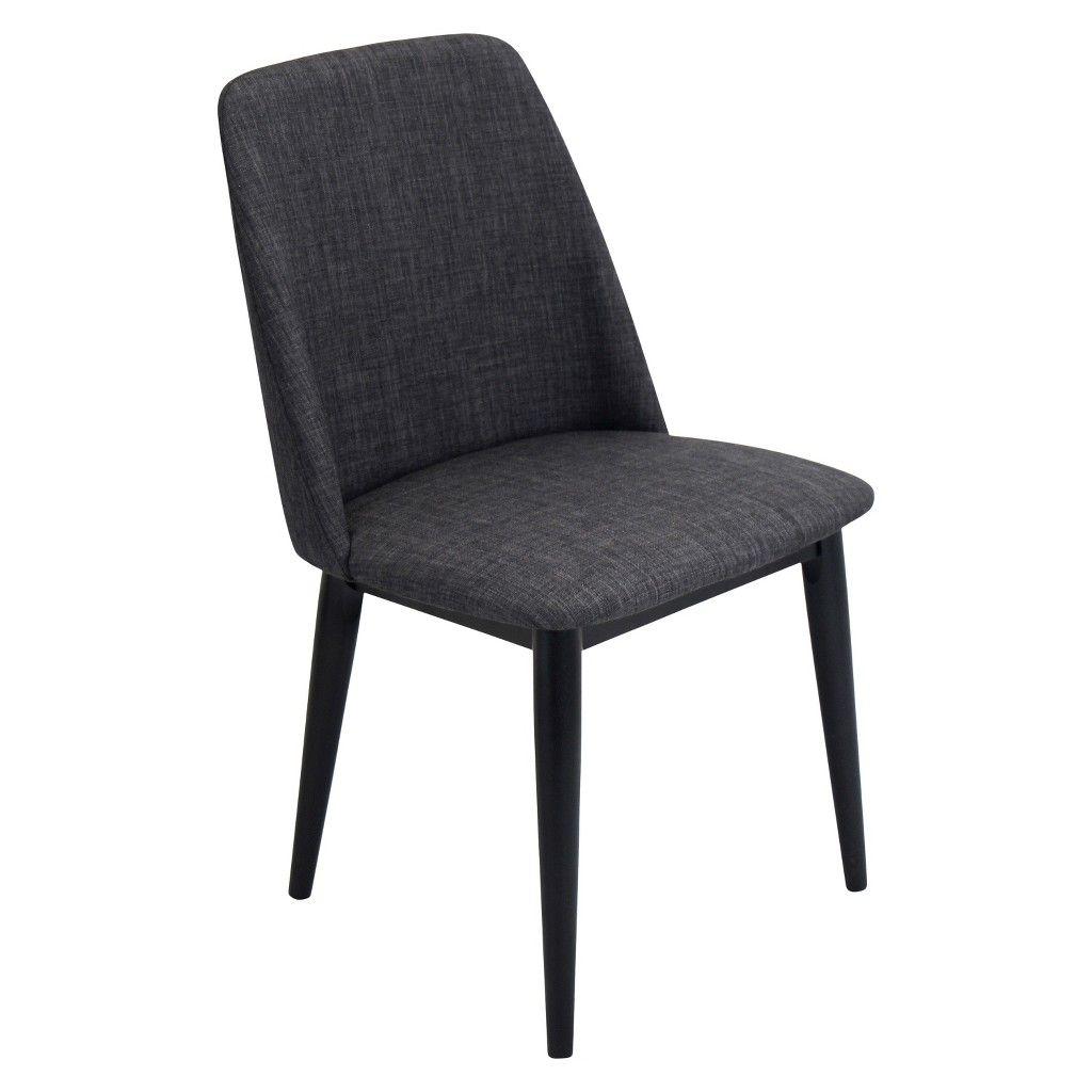Set of 2 Tintori Mid Century Modern Dining Chair Black ...