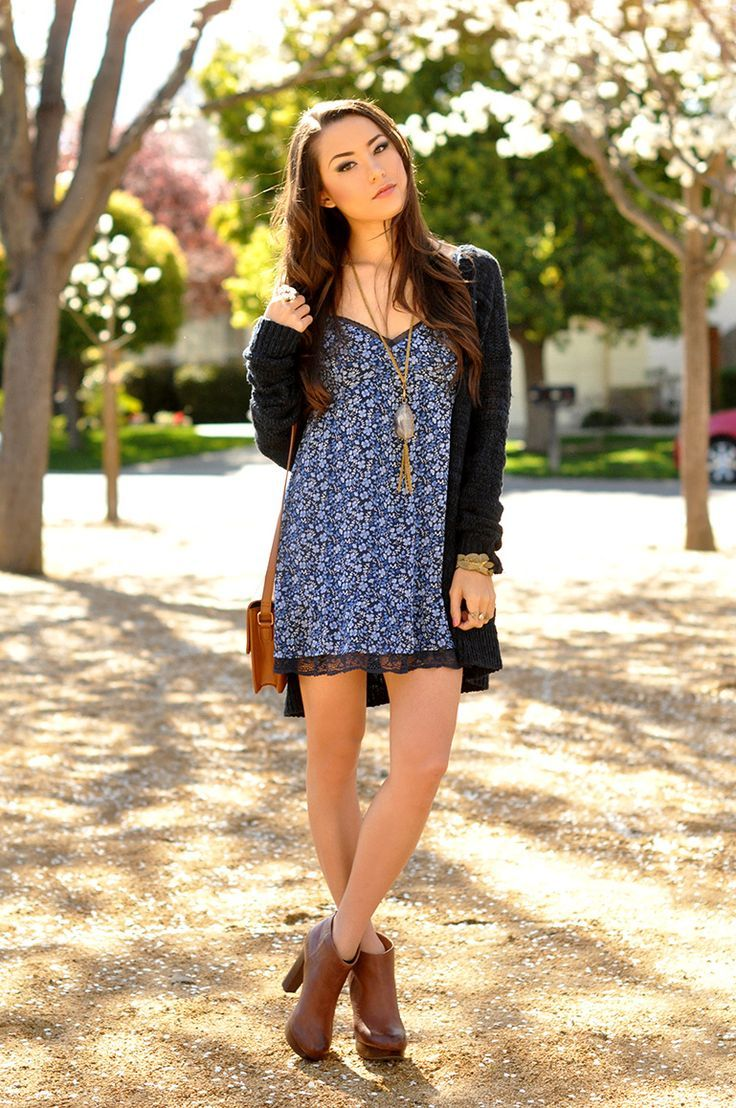 slip dress and cardigan - Google Search | Style | Pinterest ...