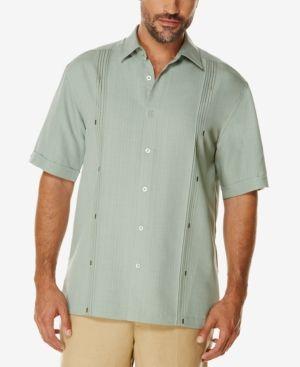 f76b9521d Cubavera Men's Big and Tall Textured Short-Sleeve Shirt - Green 2XLT ...