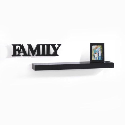 Melannco Floating Shelves Delectable Melannco Family Shelf With Frame Black 60Inch Learn More By