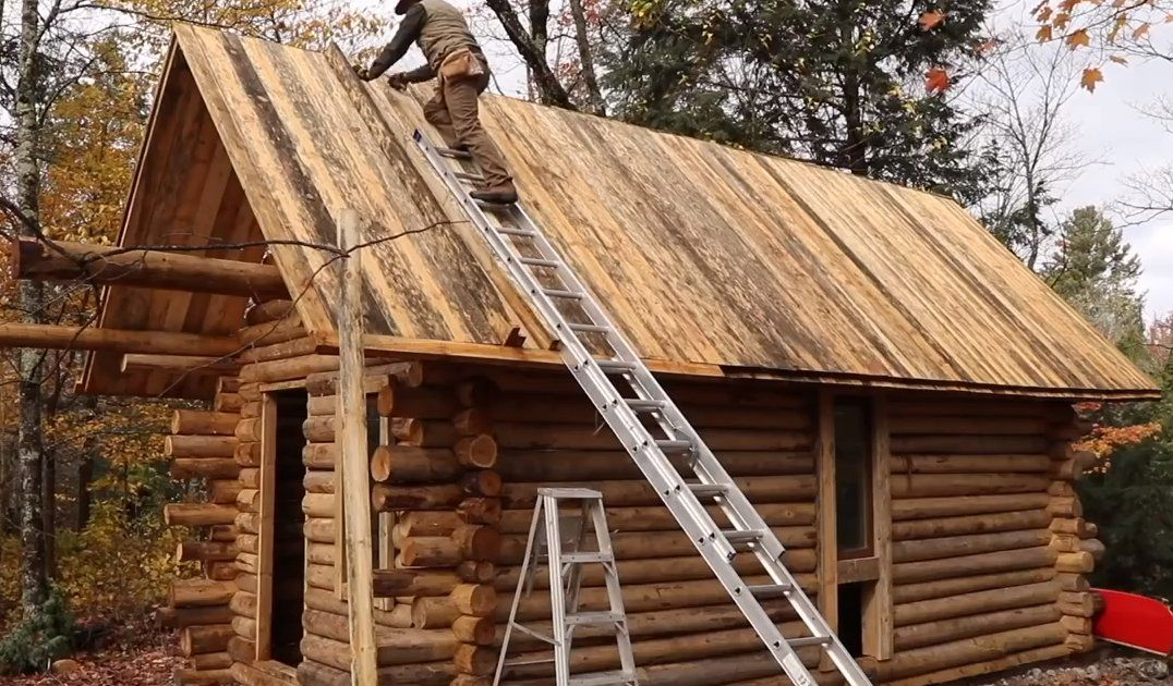 Man Builds Log Cabin in Woods by Hand in Amazing Time Lapse Video - Thrillist