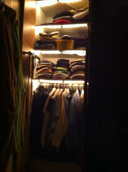 Add Automatic Closet Cupboard Lights Cupboard Lights Closet Lighting Interior Wood Stain