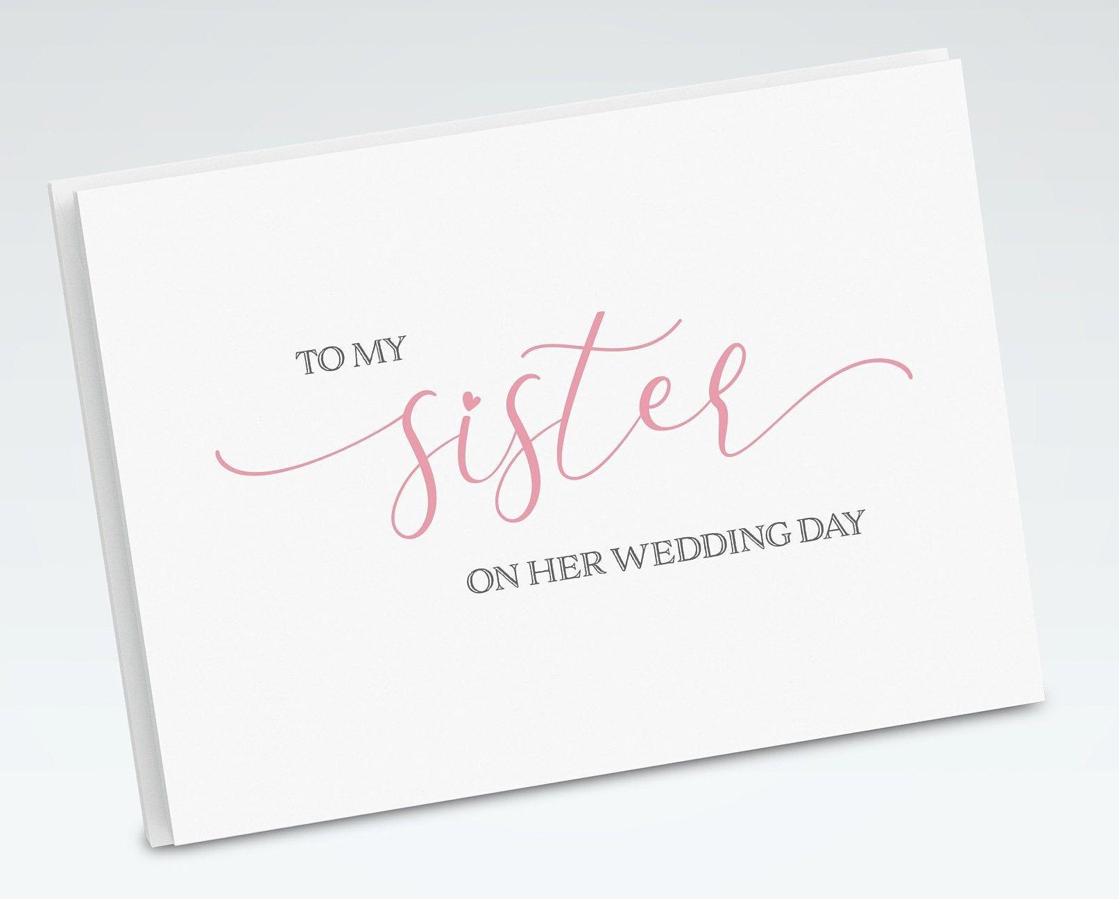 Thank You Cards for Wedding Day Sister Cards Sister Wedding Day Cards To My Sister On My Wedding Day Sister Wedding Card