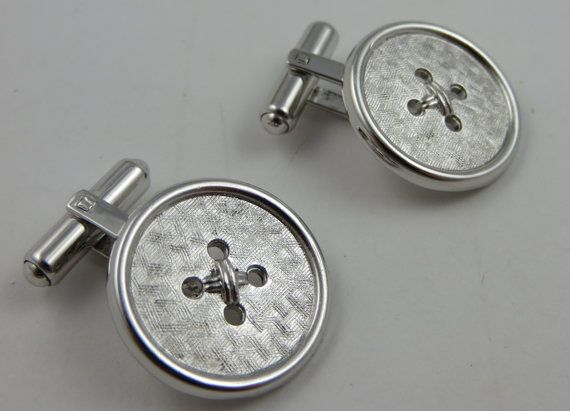 WEH Hayward Sterling Silver Cufflinks Button by LadyandLibrarian, $94.00 . . . . . der Blog für den Gentleman - www.thegentlemanclub.de/blog