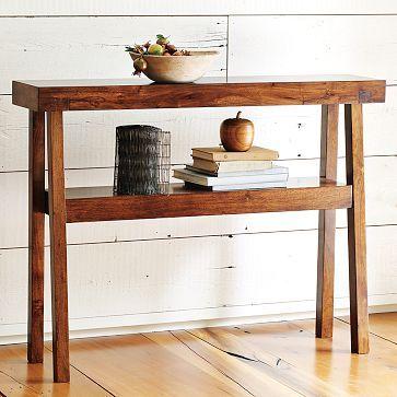 Rustic Acacia Console Decor Home Decor Wood Console Table
