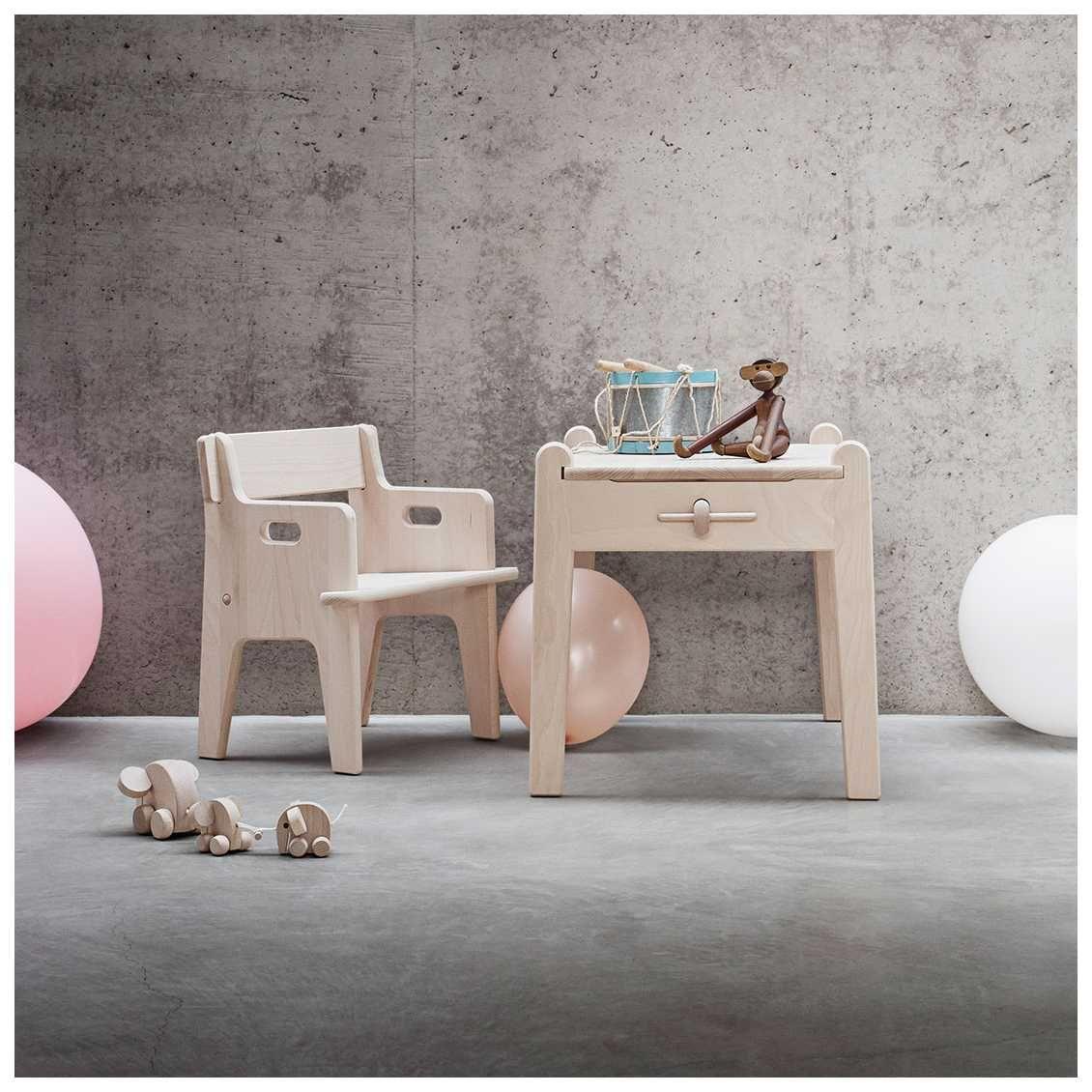 Wegner for kids play table by carl hansen søn scandinavian childrens furniture nordic furniture