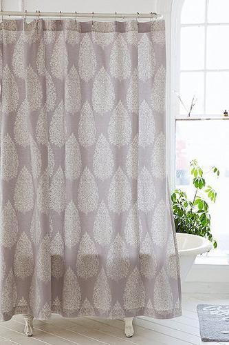 Kylee Block Print Shower Curtain In Green Covetme Urbanoutfitters