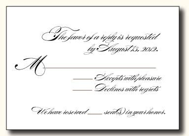 Reception Rsvp Card Wording