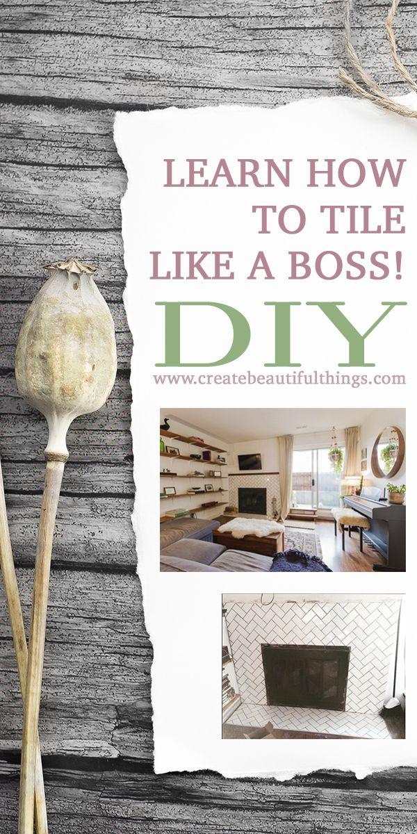Charmant Teach Yourself To Tile   Like A Boss! Lindsay Ferguson Will Tell You How. |  Pinterest | DIY Interior, Decor Interior Design And Diy Art