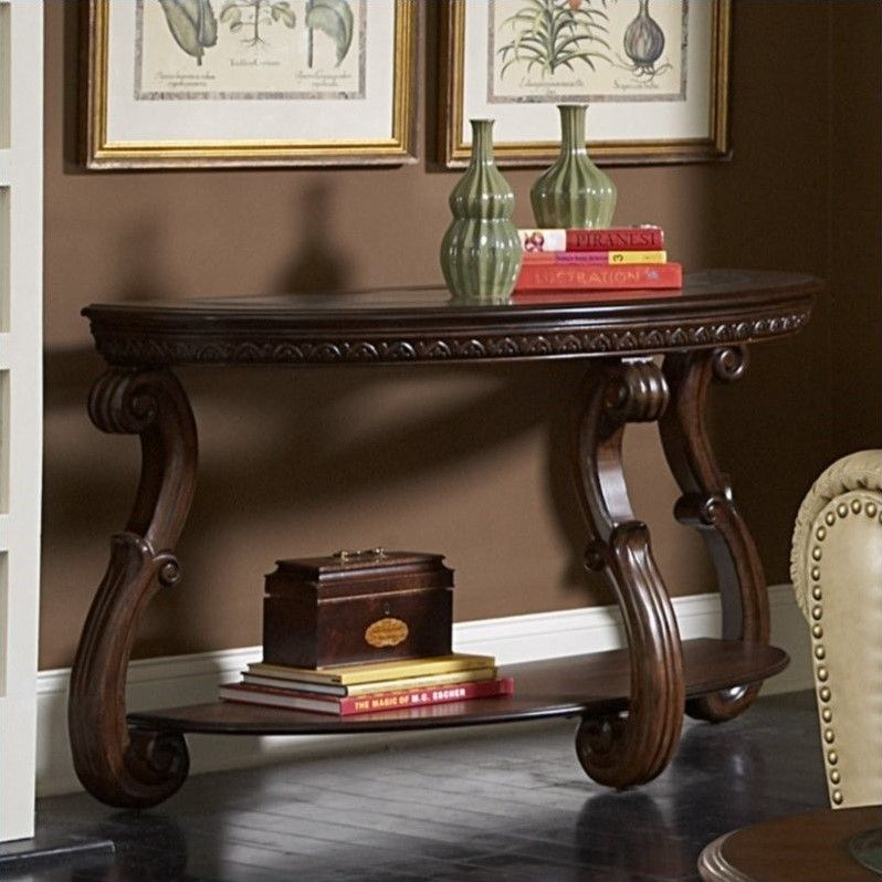 Trent Home Cavendish Sofa Table In Warm Cherry 5556 05 Wood
