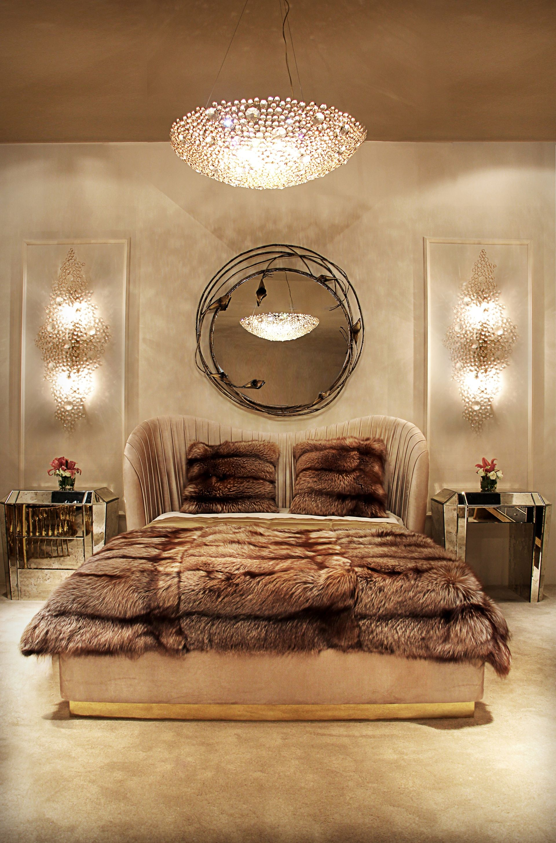 intimate bedroom lighting. The Stella Mirror Highlights A Flawless Mirrored Glass And Exotic Floral Frame That Provides An Intimate Sensuous Setting To Your Bedroom #koket Lighting H